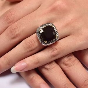 Jewelry - 5 🌟Fave! Onyx Sterling Silver & Gold Vermeil Ring
